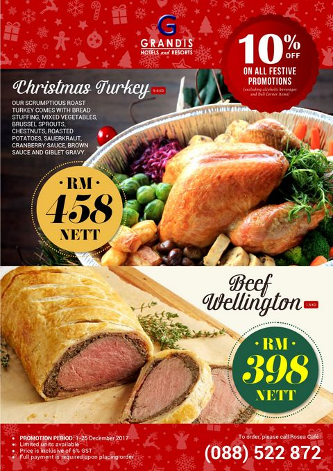 Christmas Turkey + Beef Wellington 2017